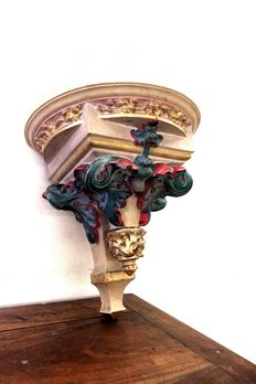 Shelf in polychrome terracotta, early 20th-century Italy
