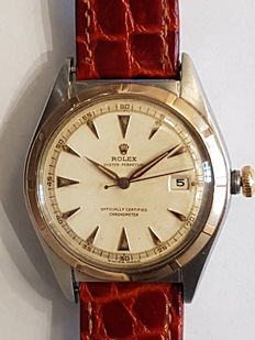ROLEX Datejust Big Bubble, vintage, 1960s.