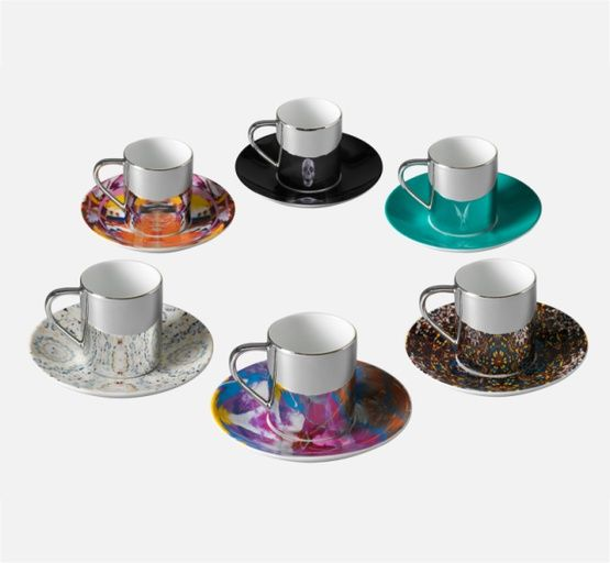 Damien Hirst - anamorphic cups and saucers