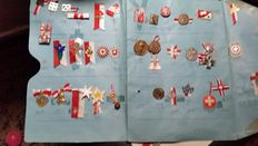 Pins and medal collection Swiss National Day 50 pieces