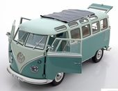 Check out our Schuco - Scale 1/18 - Volkswagen T1 Samba - Colour green with white