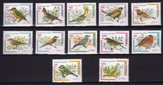 Birds - Topical collection of stamps and miniature sheets