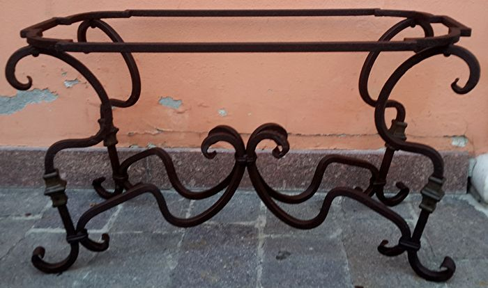 Tavoli In Ferro Battuto Napoli.Wrought Iron Frame For A Rectangular Living Room Table Catawiki