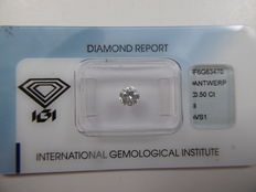 Brilliant cut diamond 0.50 ct  I VS1  ***Low Reserve Price***