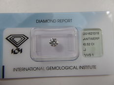 Brilliant cut diamond 0.52 ct J VVS1