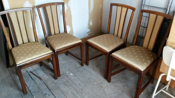 Pander - Art Deco dining room furniture: 4 chairs, 2 armchairs and 1 table  - Catawiki