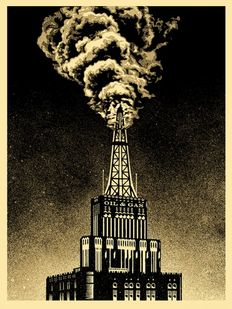 Shepard Fairey (OBEY) - Oil & Gas Building