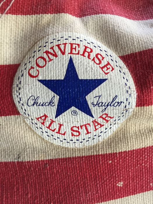 Vintage All Star Stars And Stripes Pair Made For The Shoes 75th