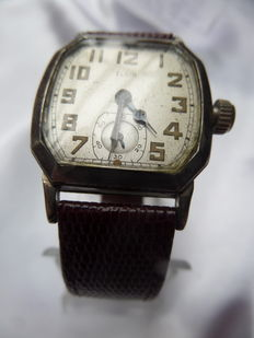 Elgin wristwatch 1927 - 15 jewels (Art Deco) - White gold-plated