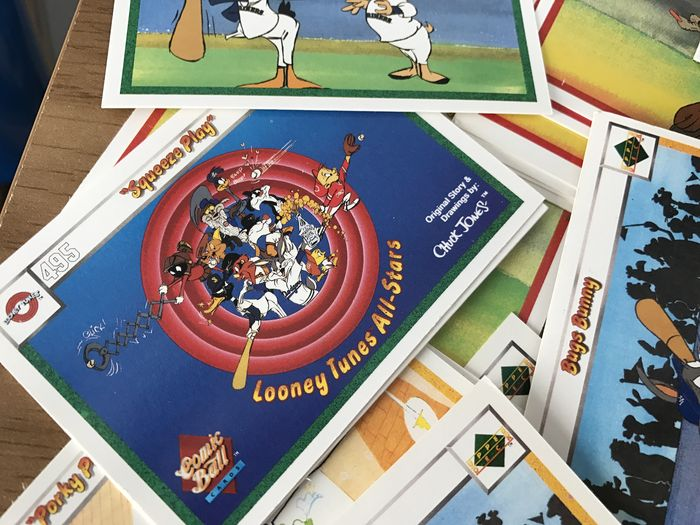 Looney Tunes Baseball Cards Un Sorted Joblot From Estate Clearance