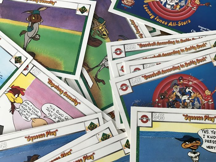 Looney Tunes Baseball Cards Un Sorted Joblot From Estate