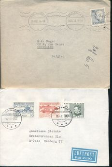 Scandinavia and Ireland - 387 Postal items and covers