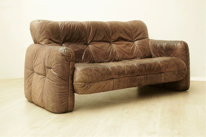 vintage lounge sofa in leder kavel 1 catawiki. Black Bedroom Furniture Sets. Home Design Ideas
