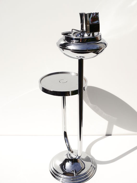 Art deco side table with ashtray and champagne holder - Deco table campagne ...