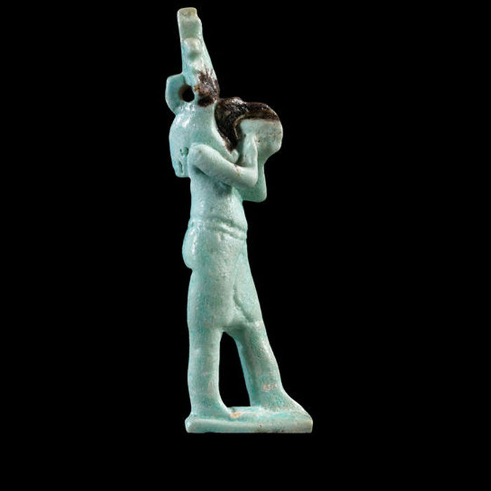 Egyptian Amulet of the ibis-headed god Thoth - 8,3 cm