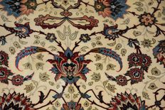 Old silk and wool  Isfahan rug, 160 x 103 cm