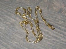 Gold link necklace with a strong squeeze clasp - no reserve