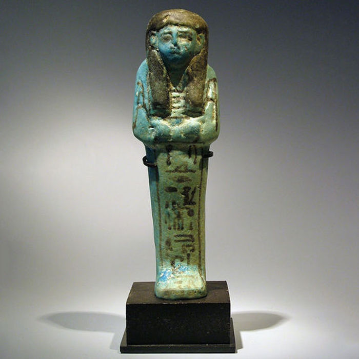 Egyptian Shabti of Ramses, overseer in the house of Thoth - 12,5 cm