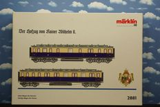 Märklin H0 - 2881 – Imperial court train Wilhelm II, set with 2 different carriages 8 9264