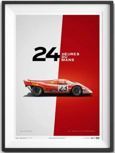 Porsche Collection fine art print - Porsche 917 #23 - 24 heures du Mans 1970 - 70 x 50 cm