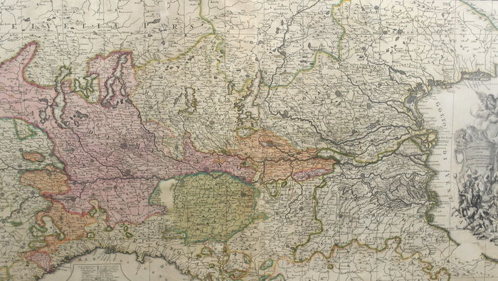 Map Of Northern Italy And Austria.Italy Northern Italy Swiss Austria Alps Pieter Schenk Sedes Belli In