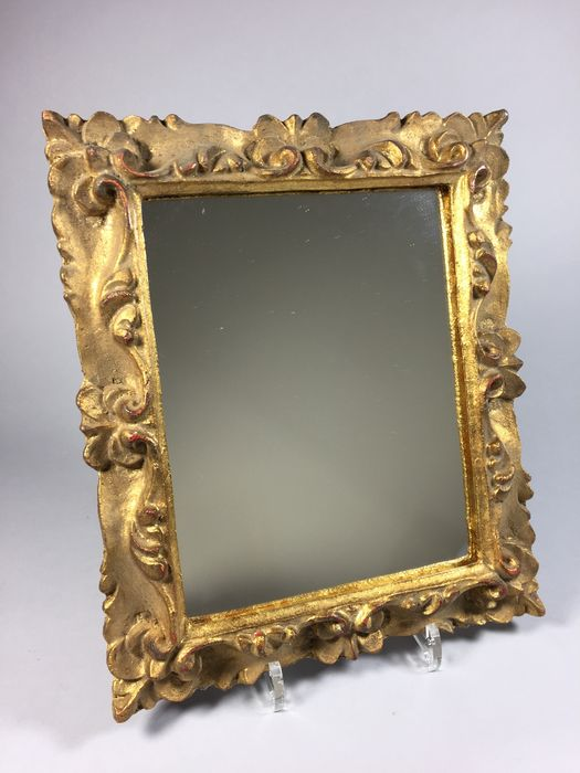 Gilt mirror in embellished frame catawiki for Embellished mirror frame