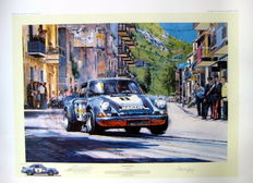 "Art Lithograph - "" The Final Targa"" - 57th Targa Florio, Sicily, 13th May 1973 -  Artist : Nicholas Watts"