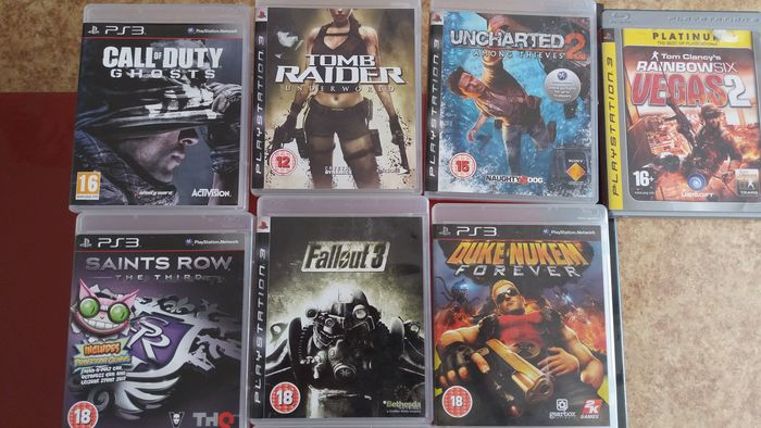 Lot of 16 PS3 Games - Call of Duty Ghost, Tomb Raider Underworld
