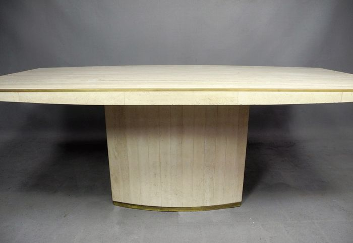 Willy rizzo pour jean charles luxueuse table de salle for Table salle a manger jean nouvel