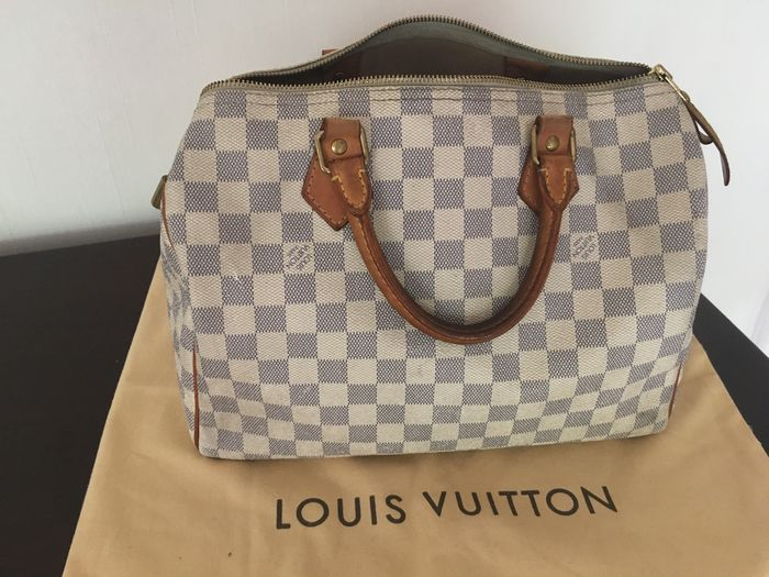 b0ea0579d00 Louis Vuitton Speedy 35 Damier Azur – Handbag - Catawiki
