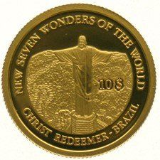 Solomon Islands - 10 Dollars 2007 - Christ, Redeemer Brazil, gold