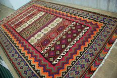 Persian kilim – Sirjan – Rug - 355 cm x 220 cm – First half 20th century