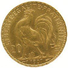 France – 20 francs 1907 'Liberty Head' – gold