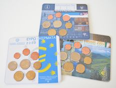 Greece, Ireland and the Netherlands - Year collections 2001 and 2002 (3 pcs in total)