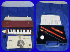 Hohner Melodica Piano 27 + Goldon recoreder, both in a carrying case