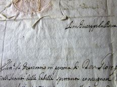 Handwritten; Letter of congressman of the city of Sciacca at the  gabelle administration - 1663