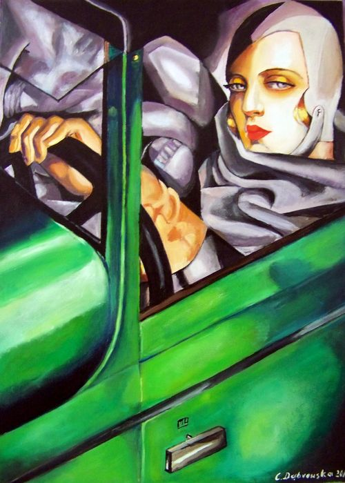 cecylia dąbrowska - self-portrait in the green bugattitamara