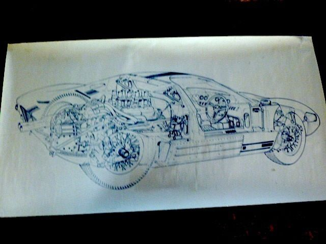 Ford Gt  Blueprint Or Ghostprint  Cm