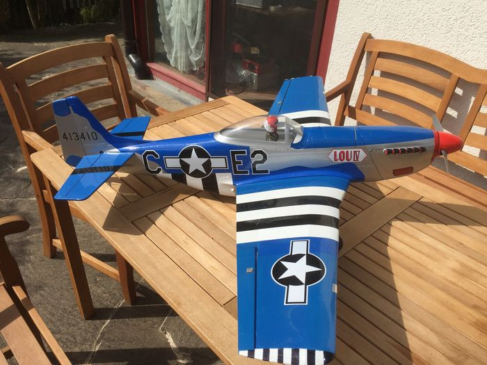 Hyperion P-51 Mustang Warbird Plane - Fiberglass and Wood - 1210mm - RTF  (Ready to Fly) - Electric - Catawiki
