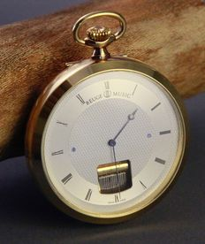 Reuge Musical Pocket Watch – Gold-plated – Period: 1980s