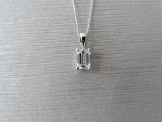 18k Gold Diamond Solitaire Pendant - 0.30ct