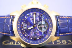 Calvaneo 1583 Astonia 'Diamond Gold Blue' -- men's wristwatch