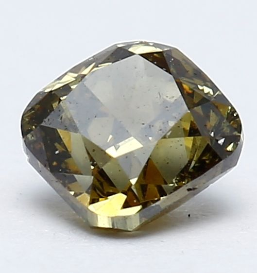 Diamante fancy naturale da 0,33 ct, giallo scuro con toni verdi, certificato IGI