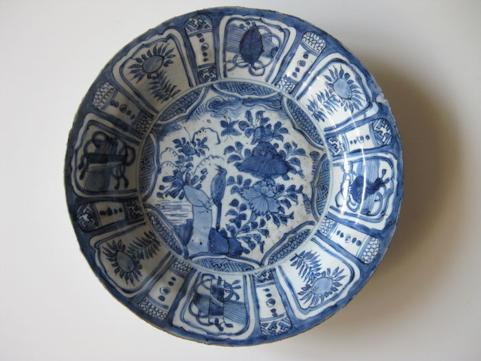 Kraak porcelain plate - China - 16th century ( Wanli