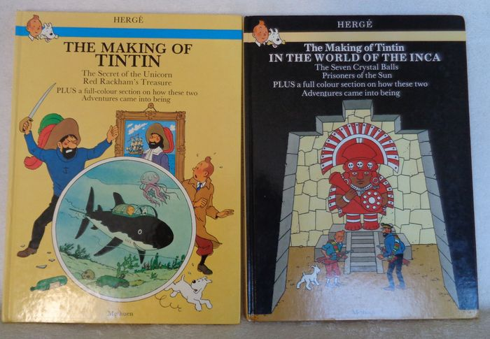 The making of Tintin - The secret of  the Unicorn & Red Rackham's Treasure + In the world of the Inca - C - Original edition (1983/1985)