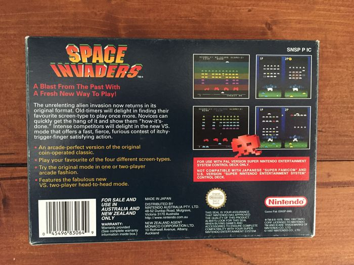 Space Invaders SNES PAL Complete - Catawiki