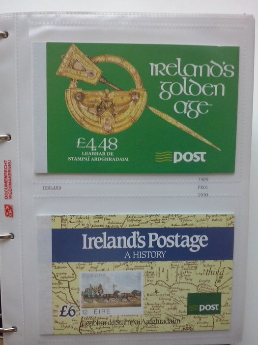 Ireland 1989/2010 – Collection of prestige booklets, 33 pieces in Davo album