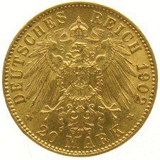 Germany, Prussia – 20 Mark 1902A Wilhelm II – gold