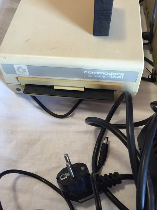 Commodore 64 with external disk drive 1541 - with a lot of