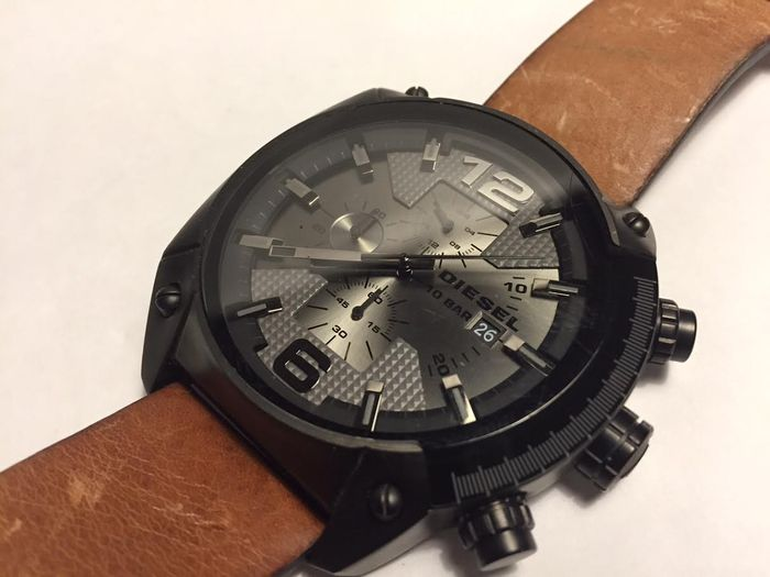 diesel montre chronographe surdimensionn e overflow dz3417 pour homme environ de 2015. Black Bedroom Furniture Sets. Home Design Ideas
